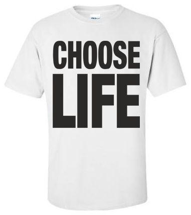 57f5a6dd CHOOSE LIFE T Shirt Wham Replica George Michael 80s Retro Fancy ...